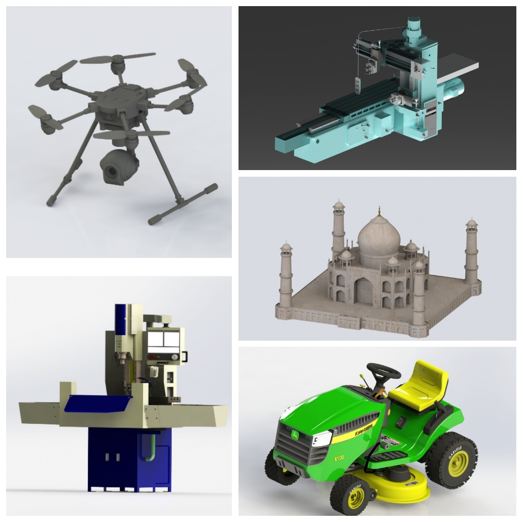 Sneak peek of SOLIDWORKS projects designed by undergrad students.